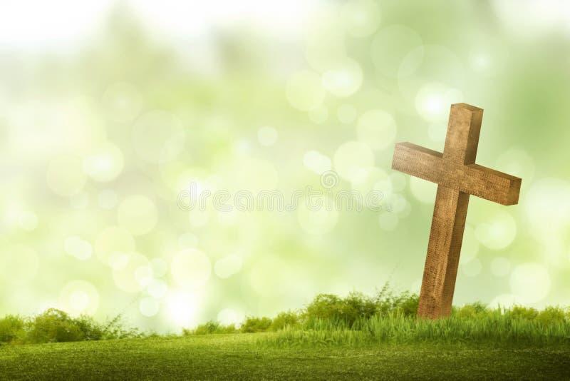 cross christiana drewniane fotografia royalty free