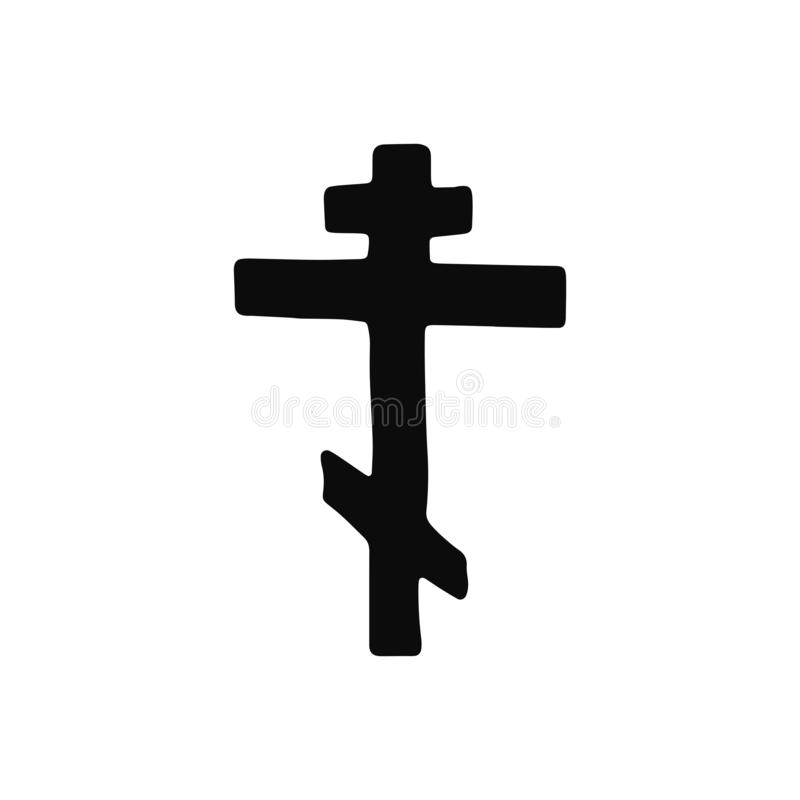 Free Cross Church Silhouette Vector Icon. Isolated Object Royalty Free Stock Image - 132073796