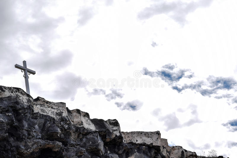 Cross Upon A Cliff royalty free stock photography