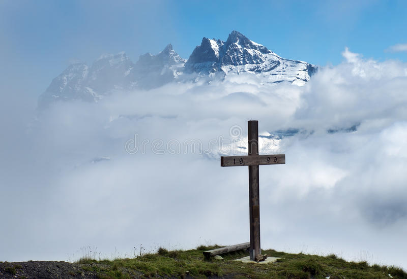 Download Cross in the clouds stock photo. Image of nature, outdoor - 26897202