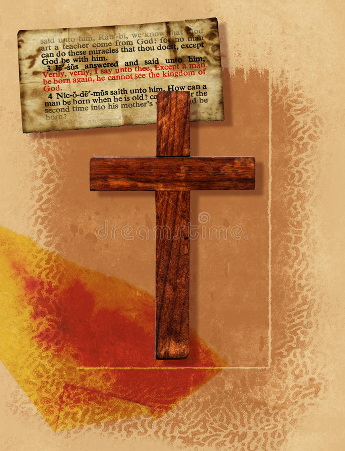 Cross Collage. A vintage collage with a Christian cross royalty free illustration