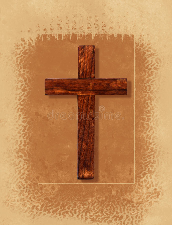Cross Collage. A vintage collage with a Christian cross stock illustration
