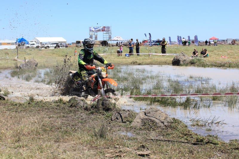Cross country motor bike race stock images