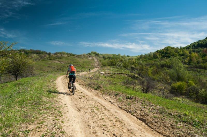 Cross Country-Radfahren stockbild