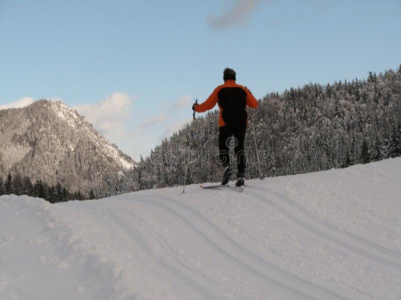 Cross-country ski run stock images