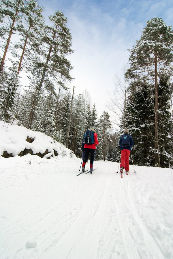 Cross Country Skiing stock image