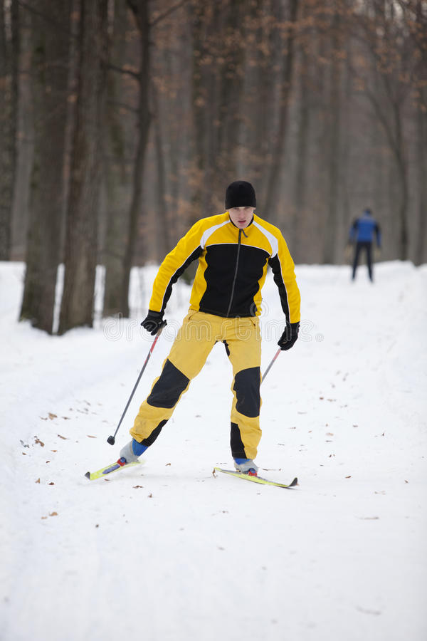 Download Cross-country skiing man stock photo. Image of cross - 17711074