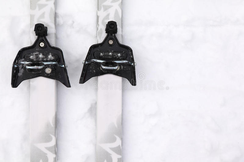 Download Cross-country Skis With Simple Binding On Snow Royalty Free Stock Images - Image: 19152989