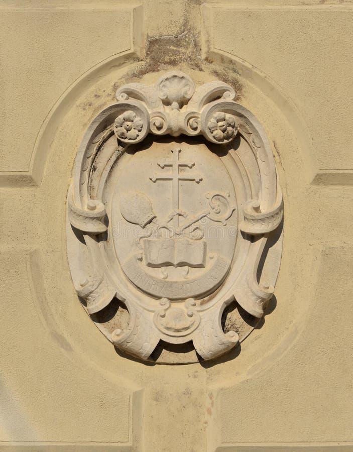 Religious Symbols In Venice Stock Photo - Image of abbot, crosier ...