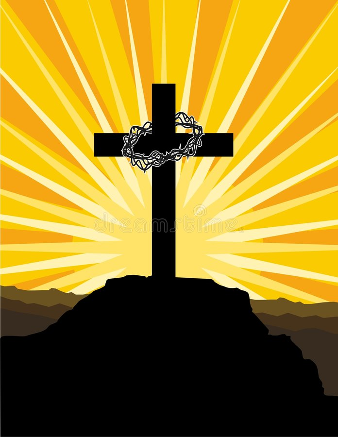 Download Cross and crown of thorns stock vector. Image of cross - 5743620