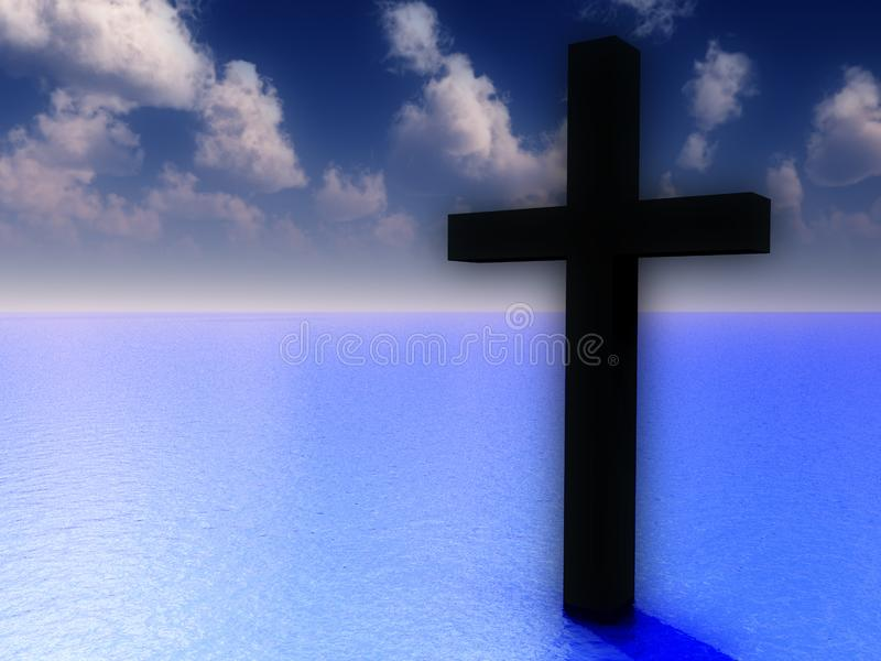 The Cross In Daytime Water 5 royalty free stock photo