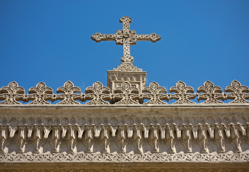 Cross and decoration. stock photography
