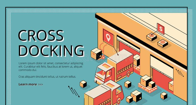 Cross docking transportation logistics service royalty free illustration