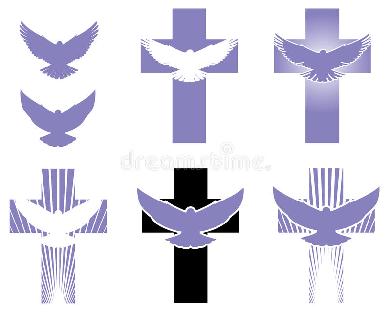 Cross and dove logo elements stock vector illustration of flying download cross and dove logo elements stock vector illustration of flying golgotha 60086209 altavistaventures Images