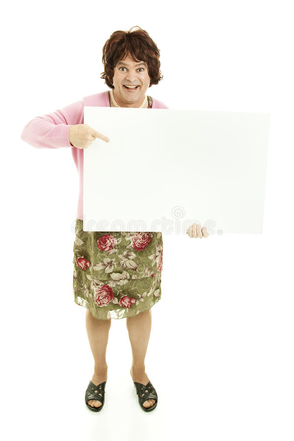 Download Cross Dresser with Message stock image. Image of enthusiastic - 18729741
