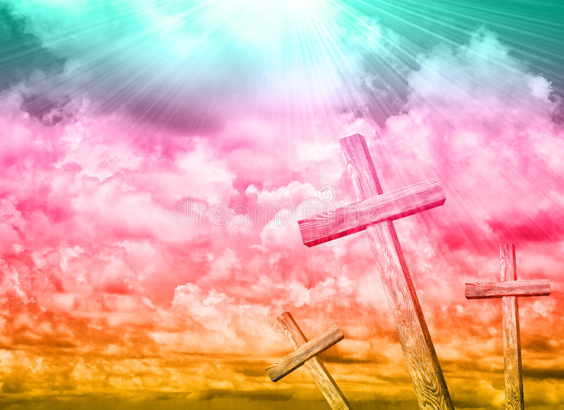 cross drewniany zdjęcie royalty free