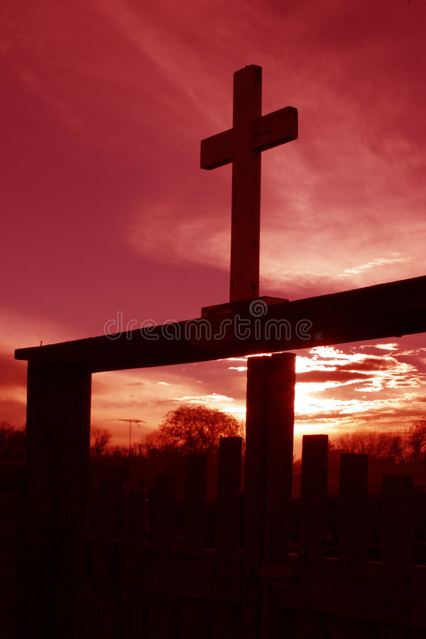 Download Cross at dusk stock photo. Image of sunset, silhouettes - 39568