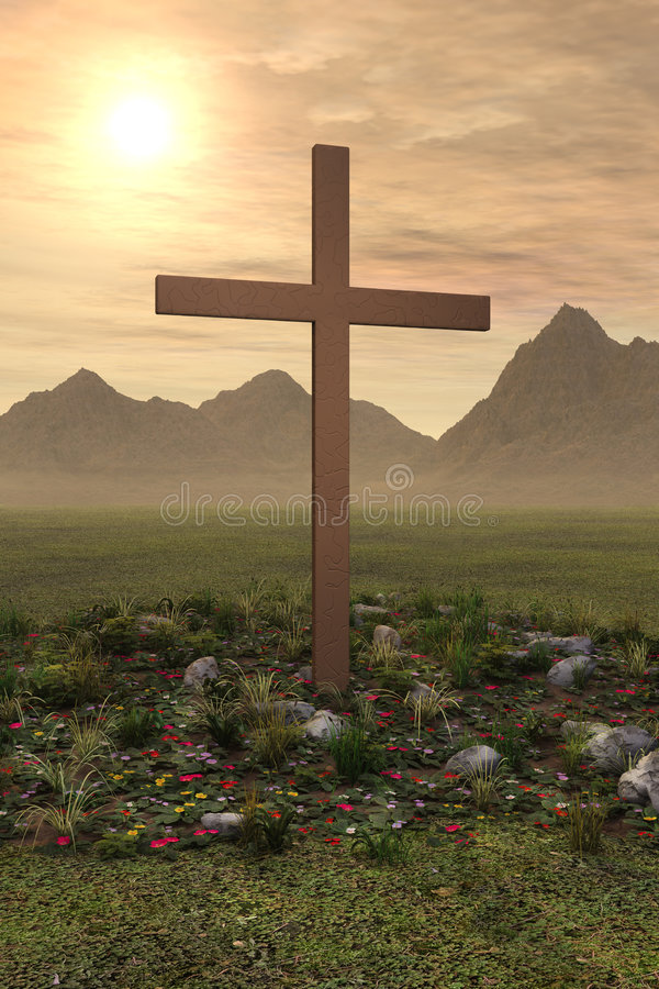 Cross Easter Sunrise Spring Morning stock photography