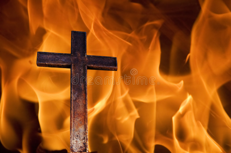 Download Cross on fire stock illustration. Image of fire, divine - 808603