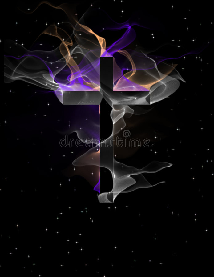 Cross with flowing forms vector illustration