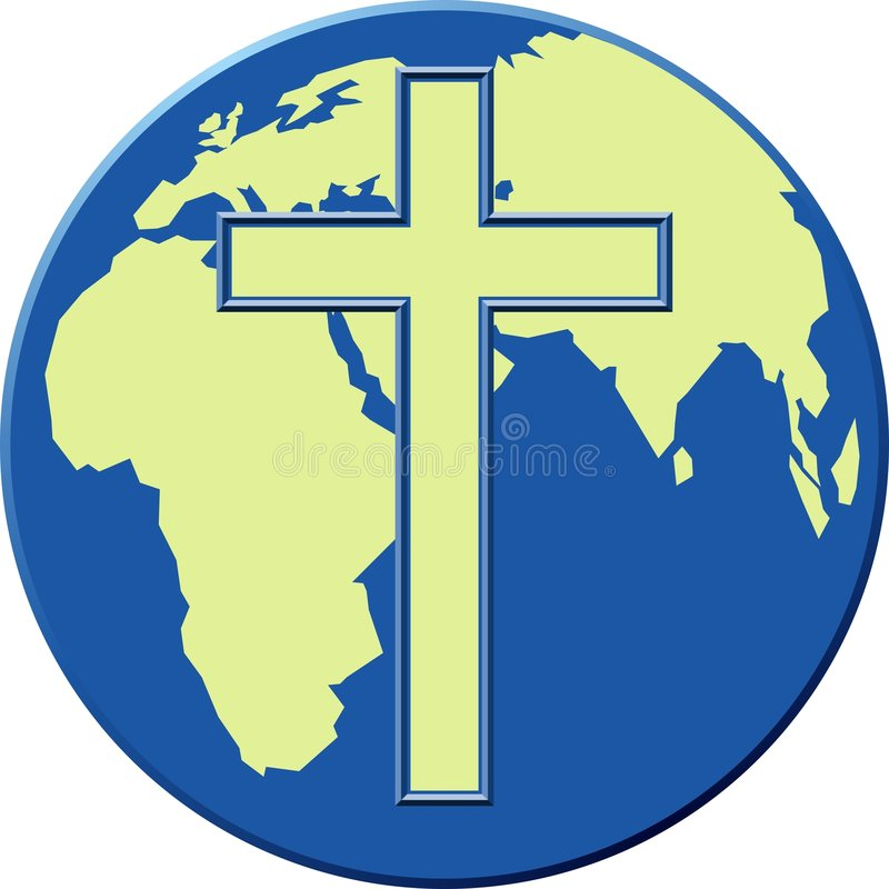 Download Cross Globe stock illustration. Image of savior, religion - 40309