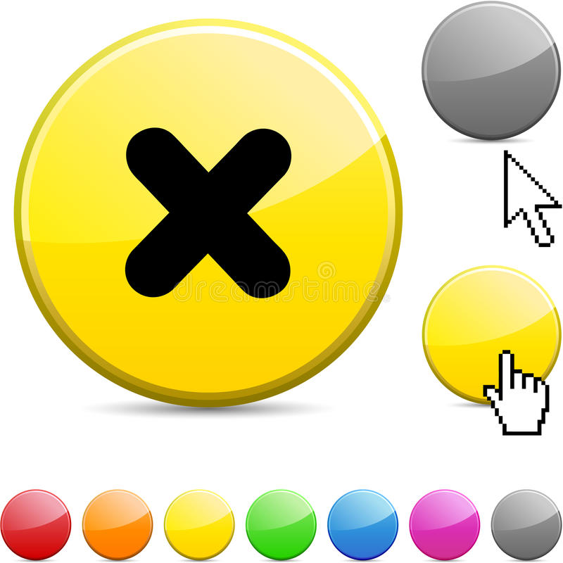 Download Cross Glossy Button. Royalty Free Stock Photo - Image: 15346095