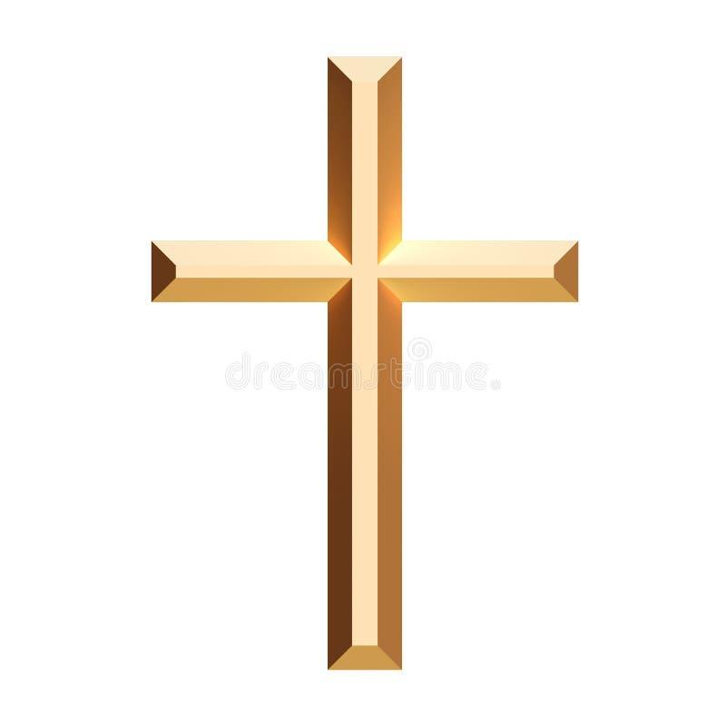 Cross gold stock illustration