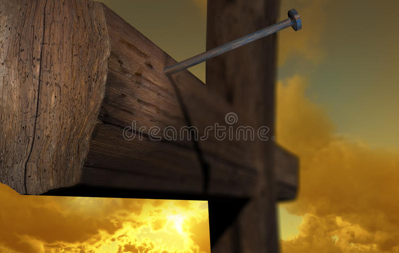 The cross of Golgatha stock illustration