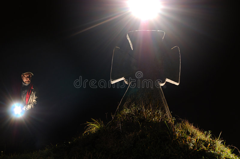 Download Cross in graveyard stock image. Image of people, background - 3494623