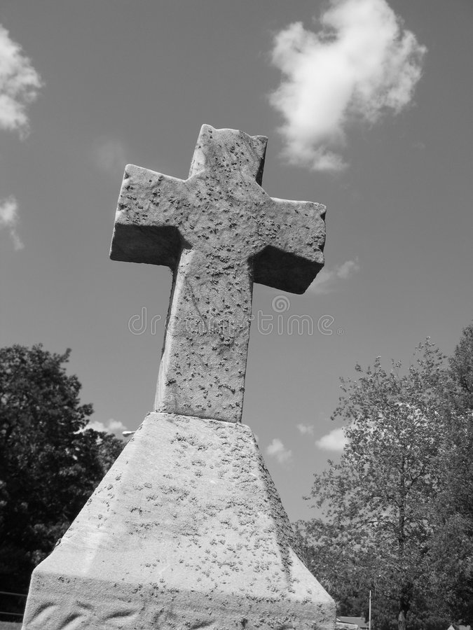 Download Cross in gray stock photo. Image of believe, cemetary, catholic - 538532