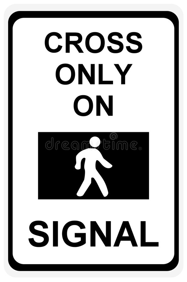 Download Cross Only On Green Signal Sign Stock Illustration - Image: 7582136