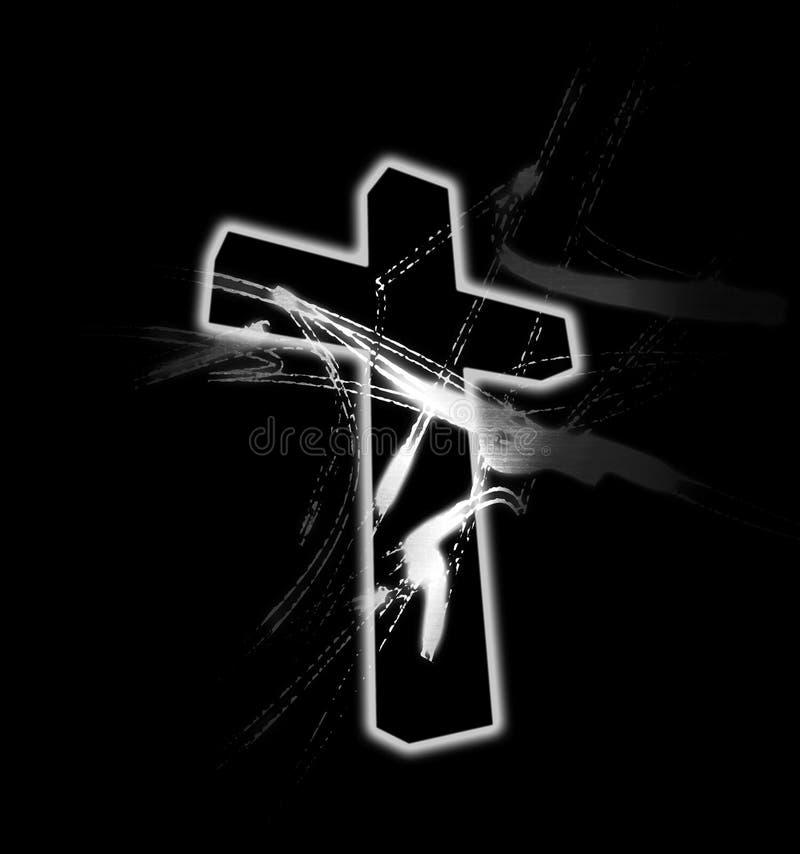 Cross Grunge royalty free stock photography