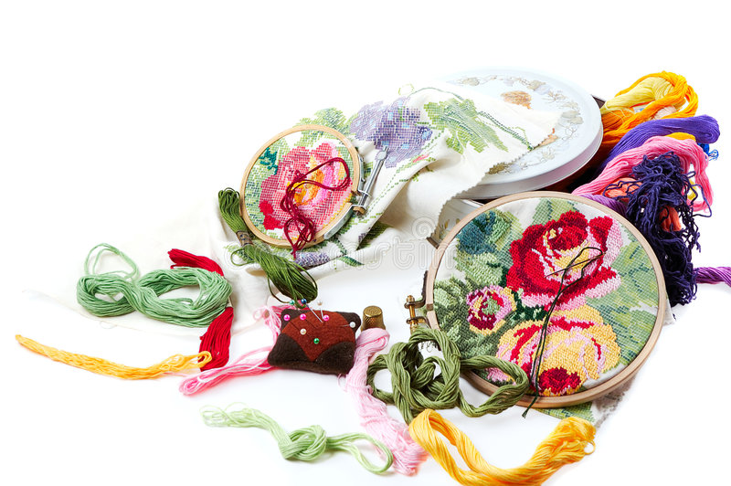 cross hafciarski stitch zdjęcie stock