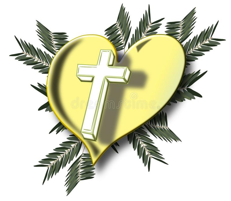Cross and heart stock images