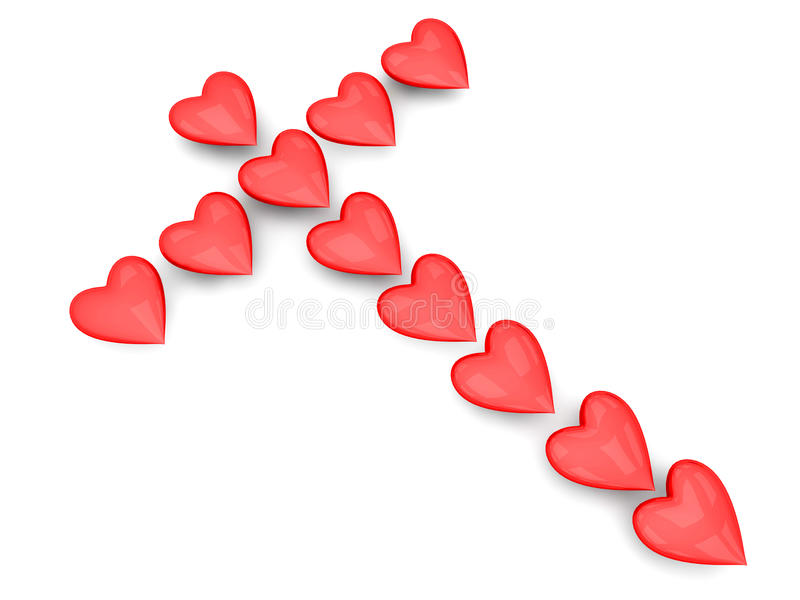 Download Cross of Hearts stock illustration. Illustration of formation - 25087316
