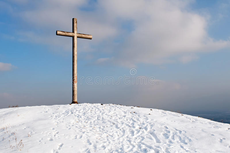 Download Cross on Hill stock image. Image of ground, beliefs, construction - 19144763