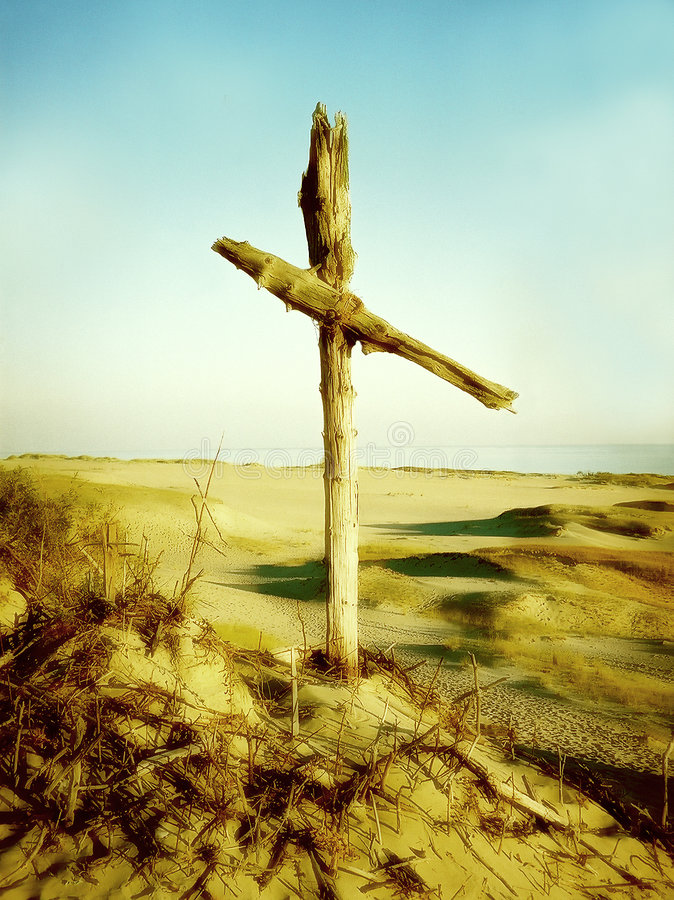Download Cross, II stock photo. Image of skies, green, crosses, sand - 6466