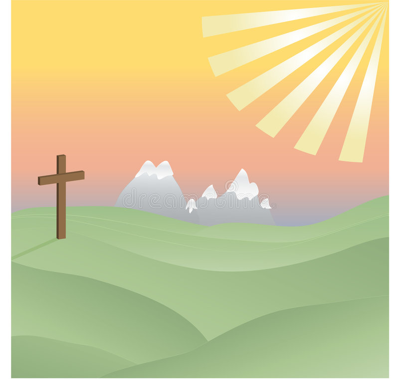 Free Cross In The Sunshine Stock Image - 7459491