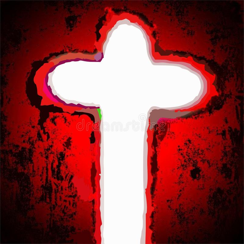 Cross of jesus christ savior stock image