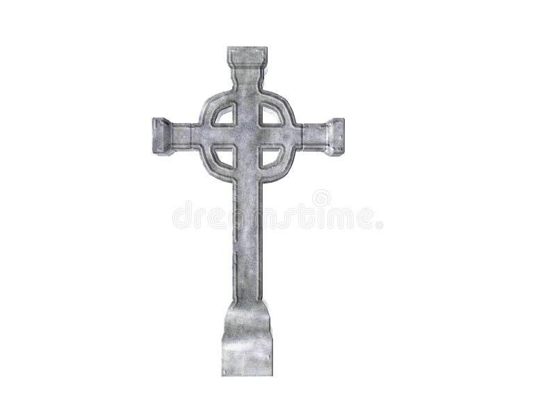 cross kamień royalty ilustracja