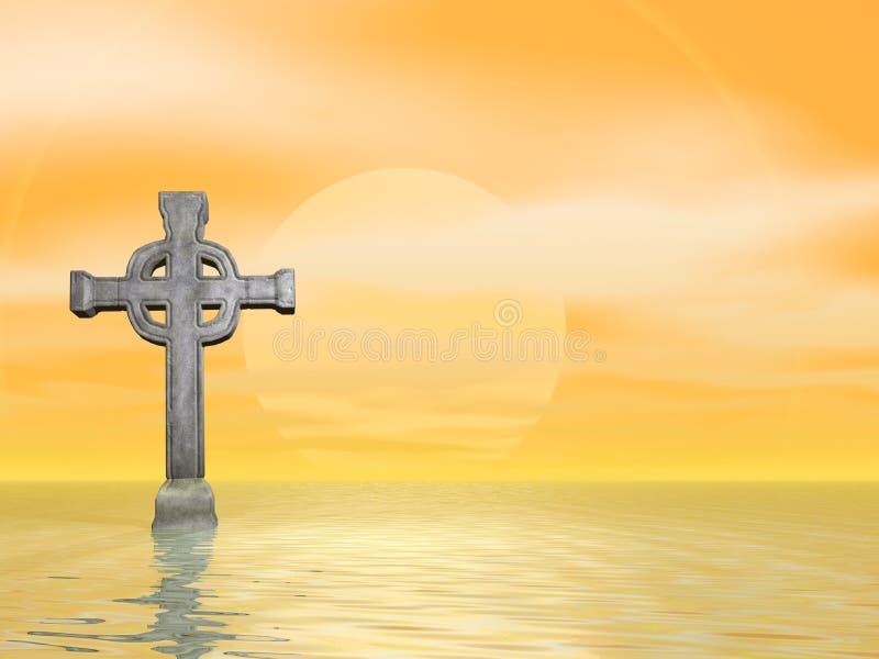 cross kamień ilustracji