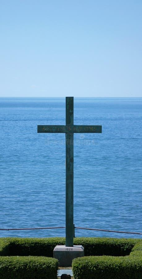 Download Cross On The Lake stock image. Image of niagara, enactment - 163045