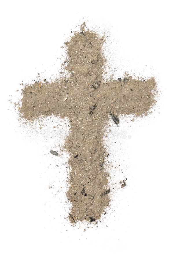 Free Cross Made Of Ashes Royalty Free Stock Photography - 23147207