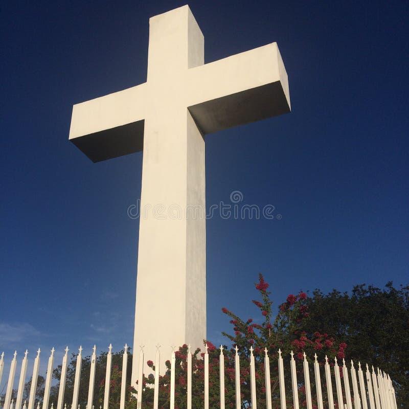 The cross of mount helix. stock image