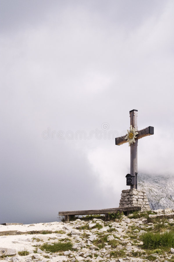Download Cross on mountain peak stock photo. Image of christian - 6197360