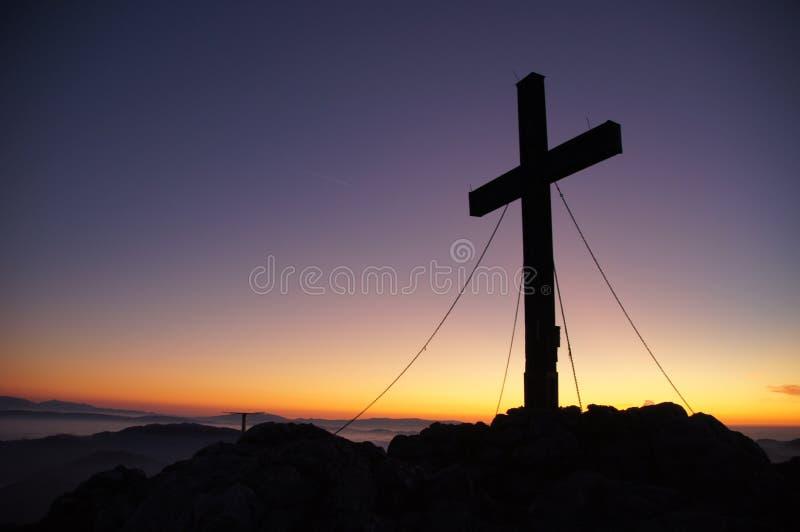 Cross On Mountain At Sunset Free Public Domain Cc0 Image