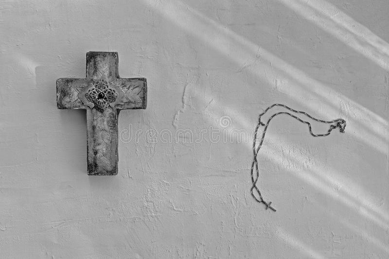 Cross and Necklace stock photography