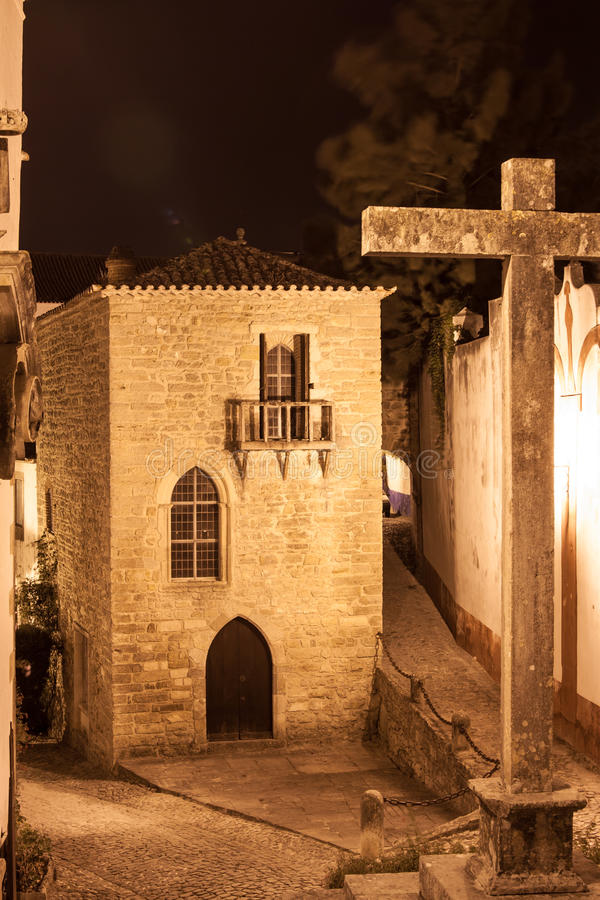Download Cross Obidos, Portugal stock photo. Image of house, typical - 27058446