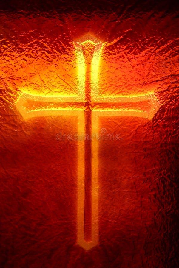 Download Cross okno obraz stock. Obraz złożonej z krzyż, glassblower - 130187