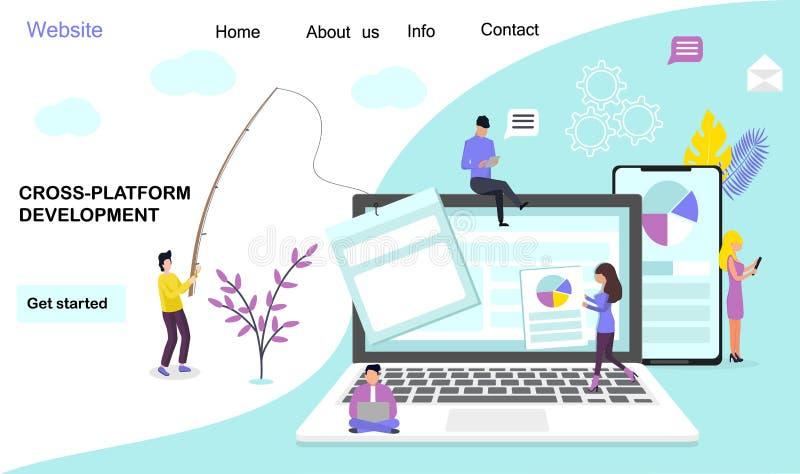 Cross-platform developmen royalty free illustration